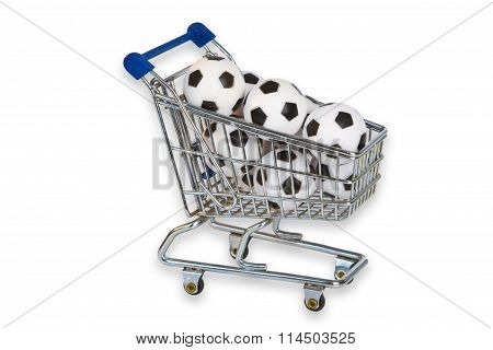Toy Shopping Trolley With Soccer Balls