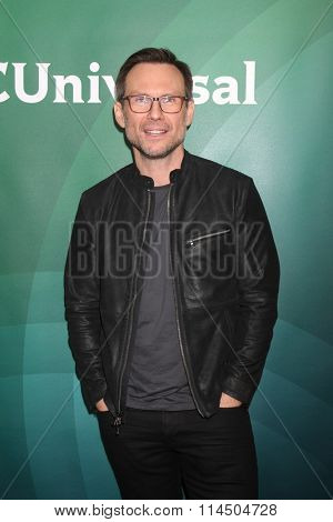LOS ANGELES - JAN 14:  Christian Slater at the NBCUniversal Cable TCA Press Day Winter 2016 at the Langham Huntington Hotel on January 14, 2016 in Pasadena, CA