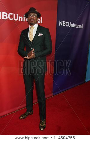 LOS ANGELES - JAN 14:  Nick Cannon at the NBCUniversal Cable TCA Press Day Winter 2016 at the Langham Huntington Hotel on January 14, 2016 in Pasadena, CA