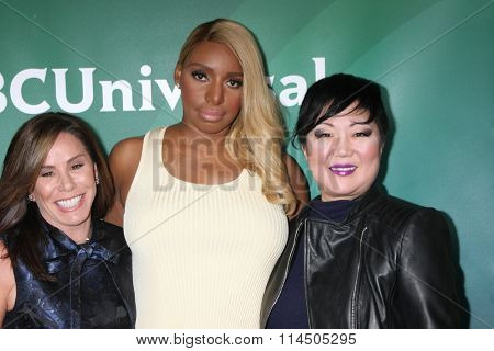 LOS ANGELES - JAN 14:  Melissa Rivers, Nene Leakes, Margaret Cho at the NBCUniversal Cable TCA Press Day Winter 2016 at the Langham Huntington Hotel on January 14, 2016 in Pasadena, CA