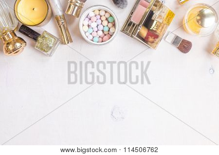 Glamour Chic Feminine Cosmetic Background