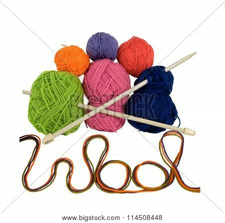Pile of wool with needle