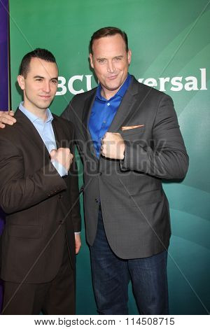 LOS ANGELES - JAN 14:  Joe Moravsky, Matt Iseman at the NBCUniversal Cable TCA Press Day Winter 2016 at the Langham Huntington Hotel on January 14, 2016 in Pasadena, CA