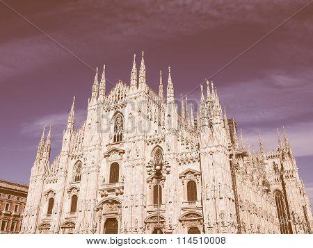 Retro Looking Milan Cathedral
