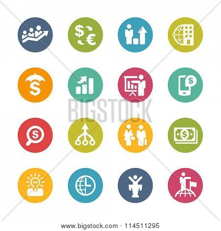 Business Financial // Fresh Colors Series ++ Icons and buttons in different layers, easy to change colors ++