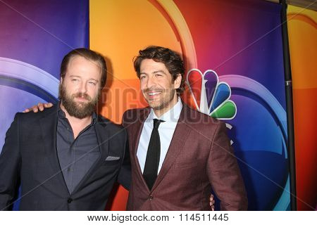 LOS ANGELES - JAN 13:  Joshua Leonard, Don Hany at the NBCUniversal TCA Press Day Winter 2016 at the Langham Huntington Hotel on January 13, 2016 in Pasadena, CA