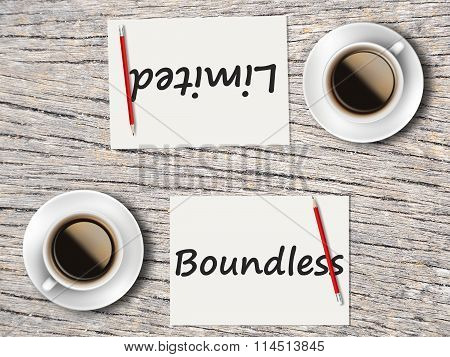 Business Concept : Comparison Between Boundless And Limited