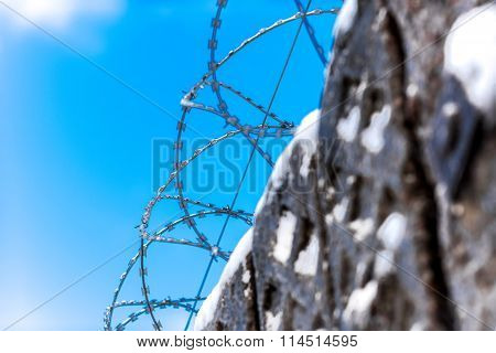 Fencing, gates, barbed wire.