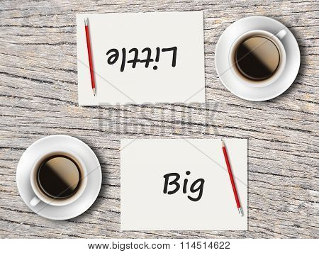 Business Concept : Comparison Between Big And Little