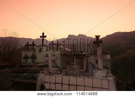 Asia East Timor Timor Leste Moubisse Graveyard