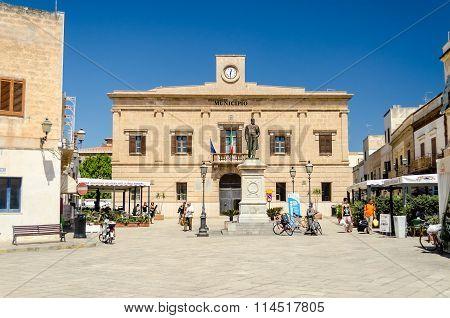Favignana Town Hall, Sicily, Italy