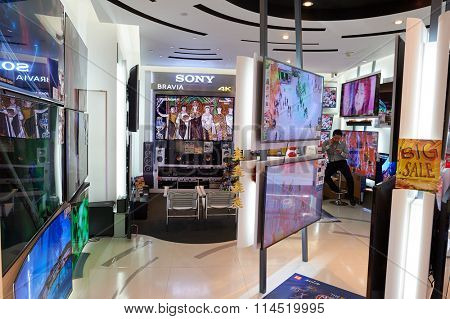 HONG KONG - DECEMBER 25, 2015: interior of ifc shopping mall in Hong Kong. Hong Kong shopping malls are some of the biggest and most impressive in the world