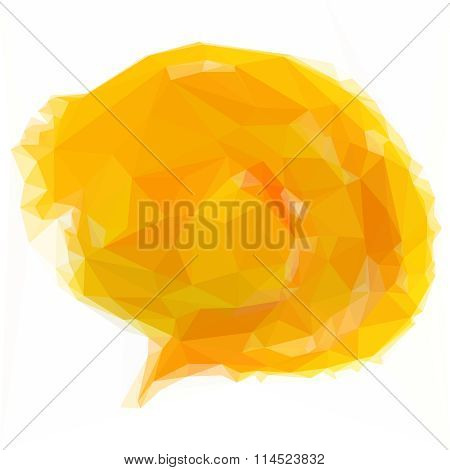 Low poly design triangular chat speech bubble comic clouds polygon