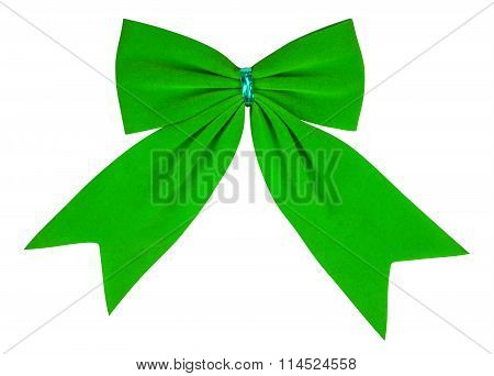 Velvet Bow - Green