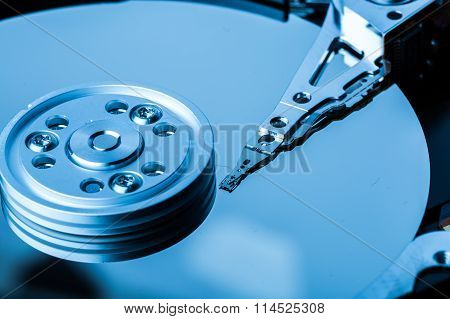 Close Up Of Hard Disk With Clean Surface