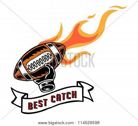 Best Catch Badge Hand Draw