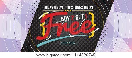 Buy 2 Get 1 Free 6250X2500 Pixel Banner.