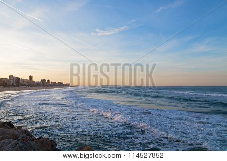 Sandy beach near Valencia Spain