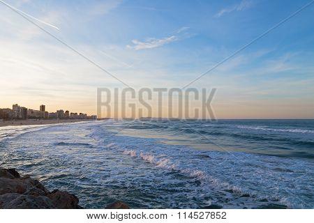 Sandy beach near Valencia Spain