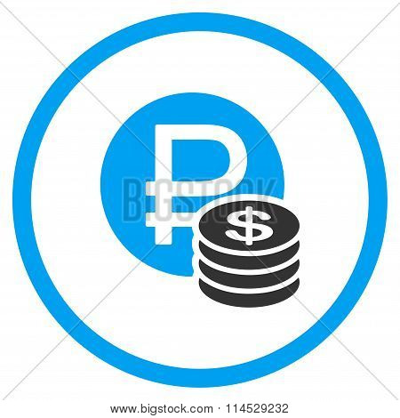Rouble And Dollar Coins Icon