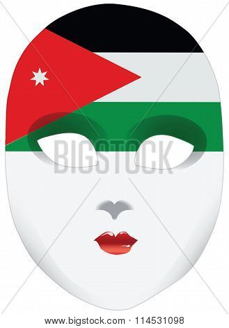 Bandanna In The Form Of The Flag Of Jordan