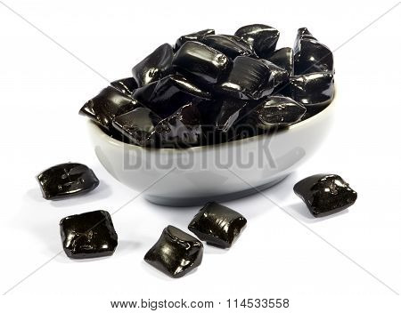 Bowl Of Black Licorice Candy
