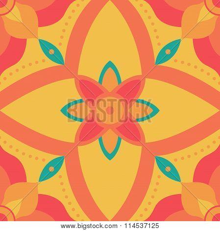 Seamless symmetry flower pattern