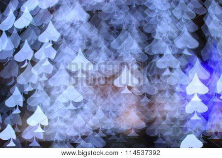 spades bokeh blur background