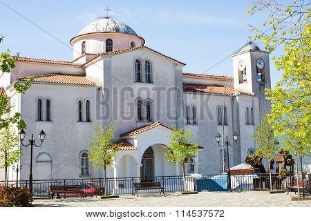 Church at Kastraki village near Meteora mountains
