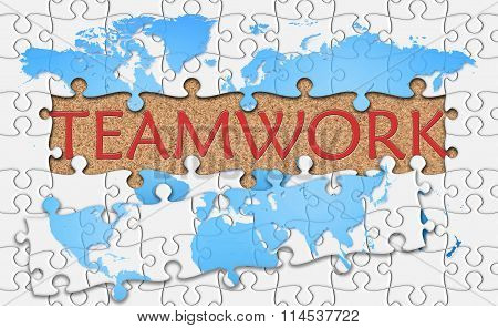 Jigsaw Puzzle Reveal  Word Teamwork