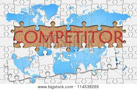 Jigsaw Puzzle Reveal  Word Competitor