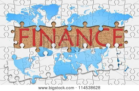 Jigsaw Puzzle Reveal  Word Finance