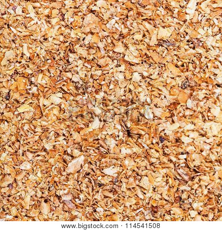 Milled Natural Grass Bran Close Up
