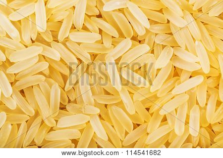 Yellow Parboiled Long Grain Indica Rice Close Up