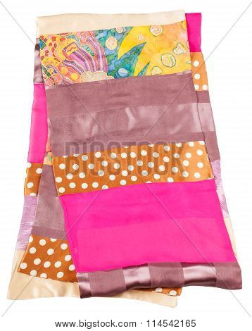 Sewing Patchwork Silk Scarf With Batik Swatch