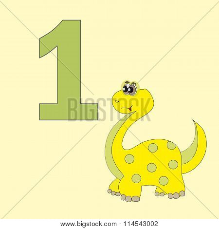 Number One. One Dinosaur (brachiosaurus).