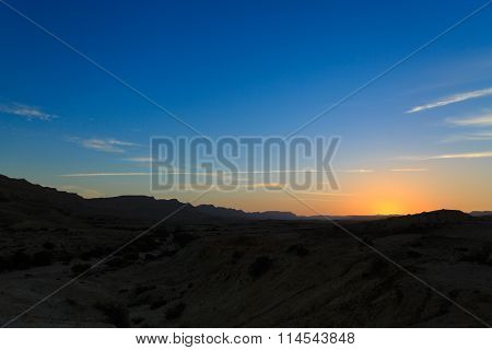 Greate Sunset In The Mountains