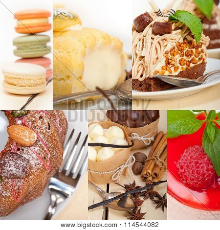 Fresh Dessert Cake Collage