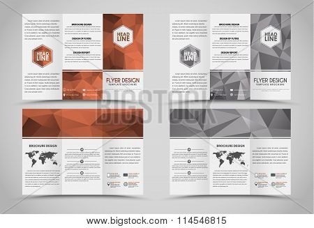 Design Folding Brochures With Polygonal Elements