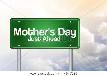 Mother's Day Green Road Sign Concept