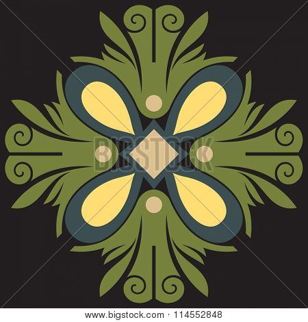abstract floral decoration, vector design elements