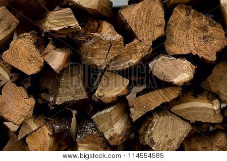 Stack Of Wood For Bonfire
