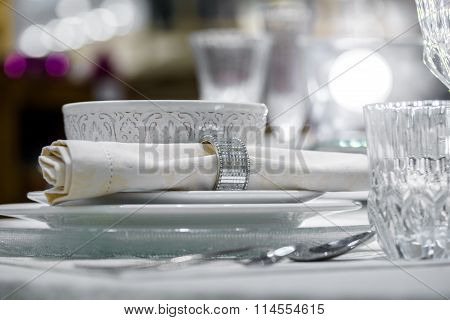 luxury decorated table