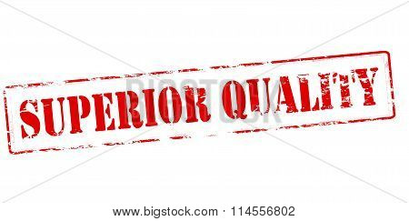 Rubber stamp with text superior quality inside vector illustration