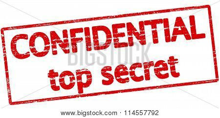 Rubber stamp with text confidential top secret inside vector illustration