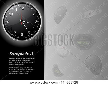 Clock Time Card And Sample Text