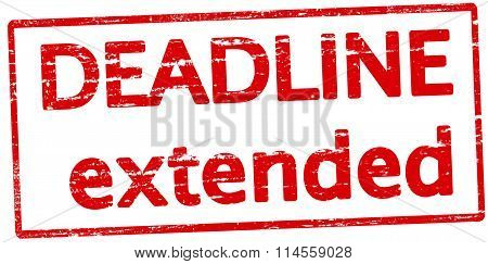 Rubber stamp with text deadline extended inside vector illustration