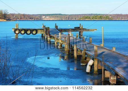 Pier In Winter