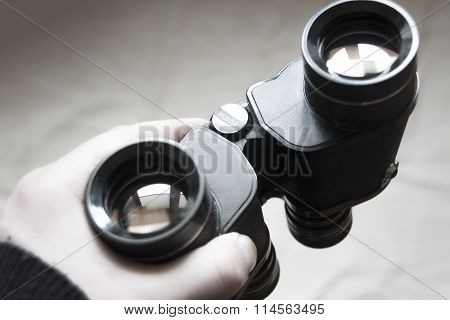 Vision word on binoculars