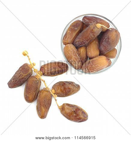 dried date fruits top view